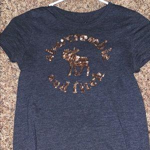 dark grey abercrombie t shirt